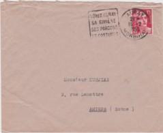 Lettre France - Cachet AURAY (Morbihan) Du 15/12/1950 - Cachet Au  Dos Plessier, Confection, Carnac - Marcophilie (Lettres)