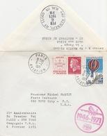25ème ANNIVERSAIRE 1er VOL PARIS/NEW YORK TWA Le 6.2.71 (petits Points S/ Timbres) - Premiers Vols