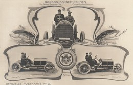 Gordon Bennet Rennen - Italienische Fahrer (Fiat) - Officielle Postkarte N°3 - Sport Automobile