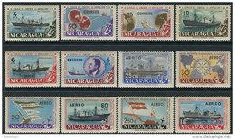 Nicaragua 1957. Michel #1163/74 VF/MNH. Ships (Ts10/25) - Nicaragua