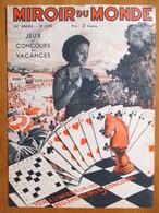 (1936)  Congés  - Vacances Jeux D'Echecs & Cartes à Jouer   - Page Originale Vintage - Monde