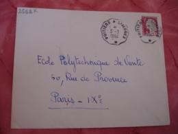 Poitiers A Limoges 1 Etoile Cachet Ambulant Convoyeur Poste Ferroviaire Sur Lettre - Marcophilie (Lettres)