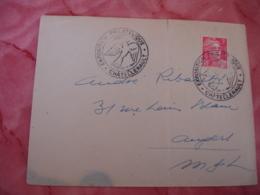 Chatellerault Exposition Philatelique Obliteration Sur Lettre - Marcophilie (Lettres)