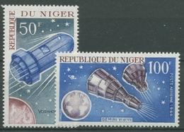Niger 1966 Raumfahrt Raumkabinen Gemini U. Woschod 137/38 Postfrisch - Niger (1960-...)