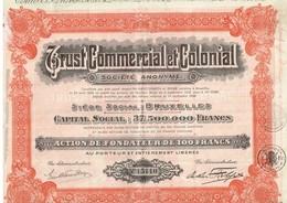 Ancienne Action - Trust Commercial Et Colonial - Titre De 1928 - Landbouw
