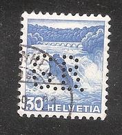 Perfin/perforé/lochung Switzerland No YT295/465 Rhein Falls G.B.  B. Gerster; Gebruder Gramiger AG Bazenheid - Perforés