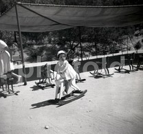 60s TOYS JOUETS PARQUE INFANTIL ALVITO LISBOA PORTUGAL 60mm AMATEUR NEGATIVE NOT PHOTO NEGATIVO NO FOTO - Other