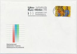 1982 Werbeflagge - EINSIEDELN Ultra-Kurz-Wellen Verbessern Den Radioempfang - Marcophilie