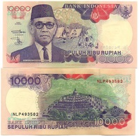 Indonesia - 10000 Rupiah 1998 ( 1992 ) AUNC Pick 131g Lemberg-Zp - Indonésie