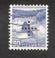 Perfin/perforé/lochung Switzerland No YT295/465 Rhein Falls +  Officiel - Gezähnt (perforiert)