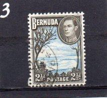 1938 GV1 2 1/2d Blue/black Used - Bermuda