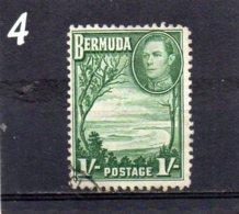 1938 GV1 1/- Used - Bermuda