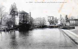 70 - GRAY LES GRANDS MOULINS APRES L'INCENDIE DU 16 JANVIER 1921 - Gray
