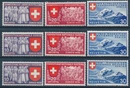 219-227 / 335-343 Serie LANDI 1939 Postfrisch/** - Unused Stamps