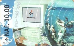 Antilles (Neth) - AN-BON-TBC-0001a, TELBOCEL, Computer & Fishing,  GSM Refill, 10 NAƒ, Exp.Day 31/12/2002, Used - Antilles (Netherlands)