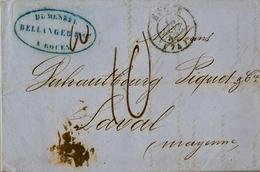 1848 , FRANCIA , ROUEN - LAVAL , CARTA COMPLETA , TRÁNSITOS , LLEGADA - Marcofilia (sobres)