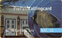 Antilles (Neth) - PRE-EZTB-1003, EZ Talk, Earth & Sea, Prepaid Card, 10 NAƒ, 1/04, Used - Antilles (Netherlands)
