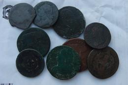 Lot De 9 Monnaies Constutionnelles Et Dupre ( &22) - 1789-1795 Monnaies Constitutionnelles