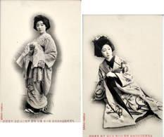 JAPAN - Japon - Geisha - Geishas - Femme Japonaise - 1900-1910's - 2 Cards - Japon
