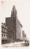 Melbourne Australia, Swanston Street Scene, M.U. Building, Autos, C1920s Vintage Rose Series P.2653 Real Photo Postcard - Melbourne