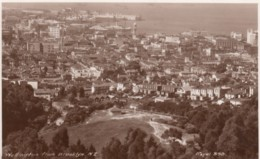 Wellington New Zealand, View Of Harbour & Town From Brooklyn, C1930s Vintage Real Photo Postcard - New Zealand