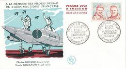 FDC France 1959 YT N° 1213 Pilotes D'essai Goujon Rozanoff - FDC