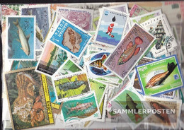 Motives Stamps-500 Different Fish+Aquatic Animals Stamps - Fishes