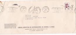 """""""PASO DE LOS ANDES 14 ENERO 1817"""" ANIVERSARIO BANDELETA PARLANTE AÑO 1975 SOBRE COMERCIAL CADHYA - BLEUP - Storia Postale"""