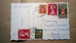 Principaute De Monaco - Le Port, Vue Vers Monte Carlo - 1959 - Postal History, Storia Postale - Monte-Carlo