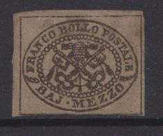 Italy -Papal States  Sassone 1 1852  Half Bajocchi Mint - Etats Pontificaux