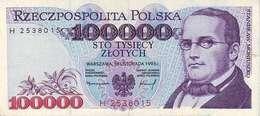 POLAND 100000 ZŁOTYCH 1993 (1994) P-160a UNC  [PL850a] - Poland
