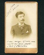 1900 Fotografia Antiga Assinada Pelo Actor ERNESTO PORTULEZ Photographia Luzitana PORTO. Old Cabinet Photo PORTUGAL - Photos