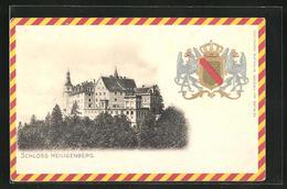 AK Heiligenberg, Blick Zum Schloss Mit Geprägten Wappen - Allemagne