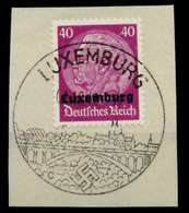 BES 2WK LUXEMBURG Nr 12 Gestempelt Briefstück X76CBA6 - Occupation 1938-45