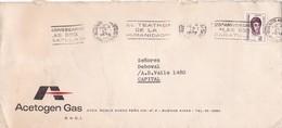 """""""25 ANIVERSARIO LAS DOS CARATULAS"""" BANDELETA PARLANTE AÑO 1977 SOBRE COMERCIAL ACETOGEN GAS - BLEUP - Argentina"""