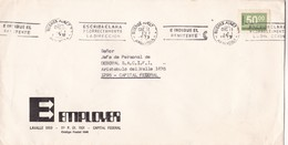 """""""ESCRIBA CLARAMENTE Y CORRECTAMENTE LA DIRECCION"""" BANDELETA PARLANTE AÑO 1977 SOBRE COMERCIAL EMPLOYER - BLEUP - Argentina"""