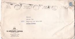 """LA MERCANTIL ANDINA"" BANDELETA PARLANTE AÑO 1977 SOBRE COMERCIAL LA MERCANTIL ANDINA GRAND FORMAT ENVELOPPE - BLEUP - Storia Postale"