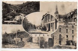 GUERN--1957--Multivues (moulin,Minoterie,église,Vallée,rue )--timbre--cachet GUERN - 56 - Frankrijk