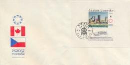 Czechoslovakia 1967 FDC Souvenir Sheet Expo 67 Montreal - 1967 – Montreal (Canada)