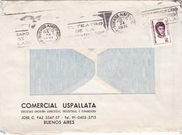 """""""25 ANIVERSARIO LAS DOS CARATULAS TEATRO"""" BANDELETA PARLANTE AÑO 1975 SOBRE COMERCIAL COMERCIAL USPALLATA - BLEUP - Argentina"""