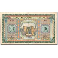 Billet, Maroc, 100 Francs, 1943-08-01, KM:20, TTB - Maroc