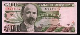 MEXICO 500 Pesos ( Madero ) 29/06/1979 Serie M RB244147 Pick-69 UNC - México