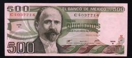 MEXICO 500 Pesos ( Madero ) 29/06/1979 Serie R CG037714 Pick-69 UNC - México
