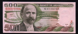 MEXICO 500 Pesos ( Madero ) 29/06/1979 Serie L QA039788 Pick-69 UNC - México