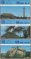 Aruba - Landis & Gyr, 3 Different Phonecards,  20U/405k, 60U/503VB, 120U/405K, Mint As Scan - Aruba