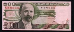 MEXICO 500 Pesos ( Madero ) 29/06/1979 Serie N MB790909 Pick-69 UNC - México