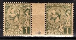MONACO 1885 / 14  - PAIRE / Y.T. N° 11 - NEUFS** - Abarten