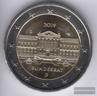 FRD (FR.Germany) 2019 D Stgl./unzirkuliert Reprint: 6 Million. Stgl./unzirkuliert 2019 2 Euro 70 Years Federal - Germany
