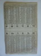 ALMANACH 1869  CALENDRIER SEMESTRIEL  NON DECOUPE  Allégorie Les Signes Du Zodiac Imprimeur Mayoux Et Honoré - Calendars
