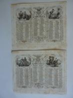 ALMANACH 1855  CALENDRIER SEMESTRIEL    Allégorie Campagne Les Taches Quotidienen  Imprimeur A. MARCILLY - Calendars